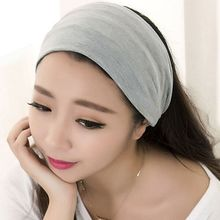 Buy 2016 Fashion Women Hair Accessory Full Vintage Wide Ribbon Comfortable Cotton Party Halloween Headband Hair Band Bandanas Hot for $1.32 in AliExpress store