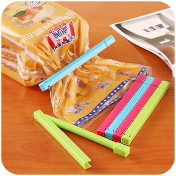6 pcs Manually Sealer Bag sealing clip Food seal clip Snack fresh buckle Bag Sealer  free shipping