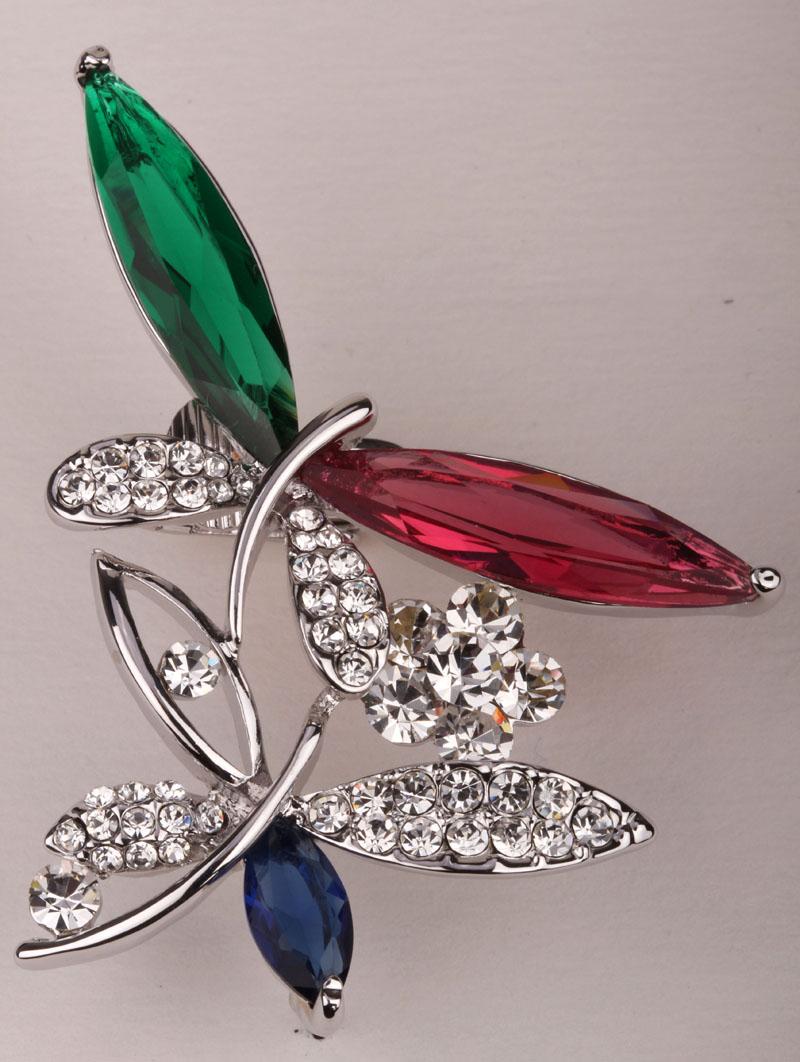 Dragonfly Left Ear Clip Cuff Earrings Gold & Silver Color Australian  Crystal Fashion Jewelry For Women