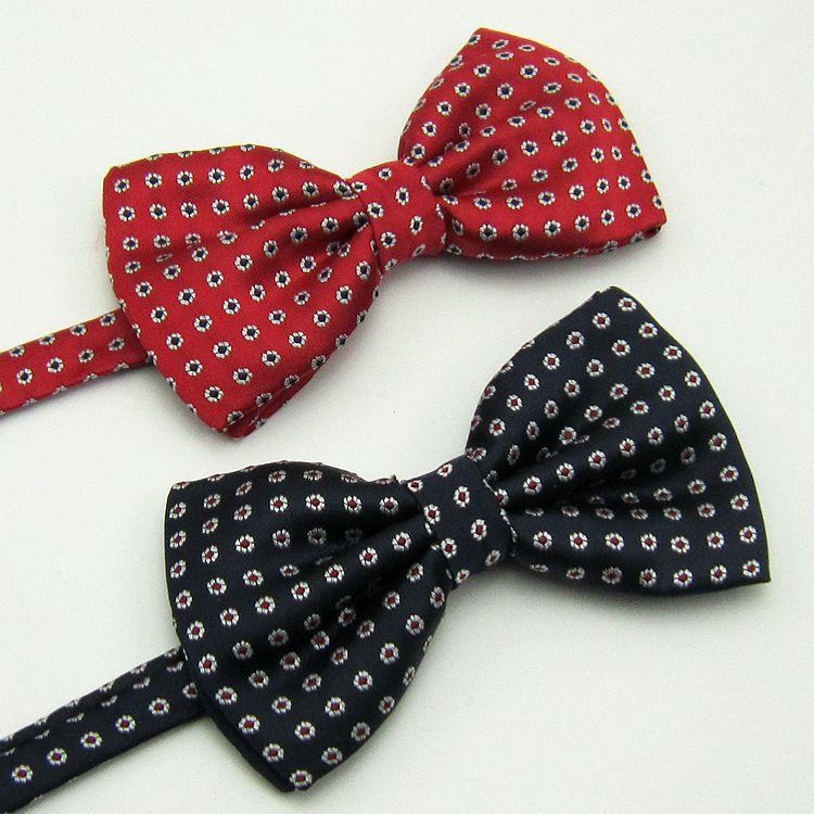 Korean male gentleman dress wedding groom Groomsmen business bow red green blue orange daisy flower tie(China (Mainland))