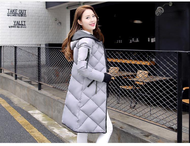 Скидки на Зимнее пальто Новая осень куртка женщин теплый пиджаки Тонкий Мягкий хлопок Куртка пальто Женская Одежда Высокого Качества