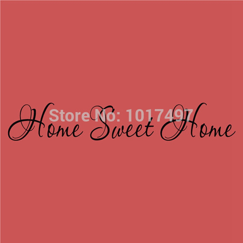 """Home Sweet Home Vinyl Lettering Word Door or Wall Art Home Decal Sticker- 18"""" W x 3"""" H free shipping f2054(China (Mainland))"""
