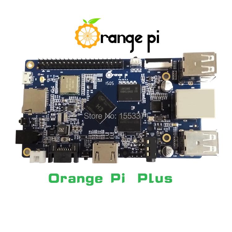 Orange Pi plus H3 Quad Core 1.6GHZ 1GB RAM 4K Open-source development board banana pi pro raspberry pi 2 cubieboard pcduino(China (Mainland))