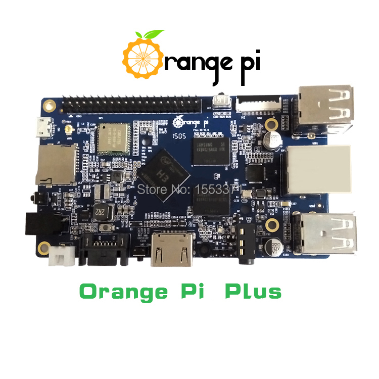 Orange Pi plus H3 Quad Core 1.6GHZ 1GB RAM 4K Open-source development board banana pi pro raspberry pi 2 cubieboard pcduino(China (Mainland))