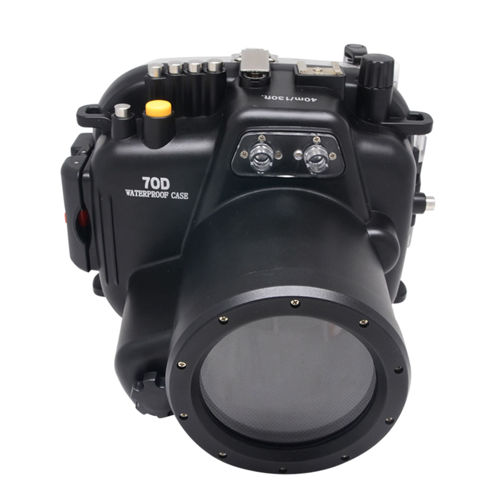 Mcoplus 40M Waterproof Underwater Camera Housing Case for Canon EOS 70D 18-135mm Lens(China (Mainland))