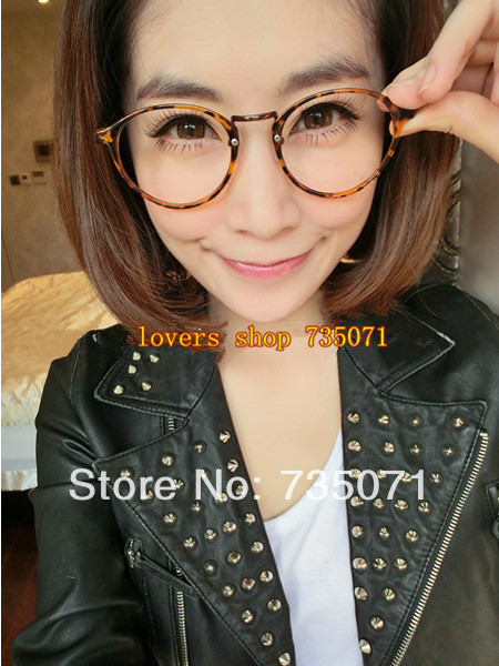 Thin Framed Fashion Glasses : Women new vintage small round frame plain eyeglasses,thin ...