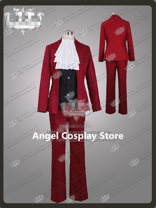 Phoenix Wright 5 Ace Attorney Miles Edgeworth Hallowmas Christmas Party Fashion Uniform Suit Cosplay Costume Full Set Any Size Одежда и ак�е��уары<br><br><br>Aliexpress