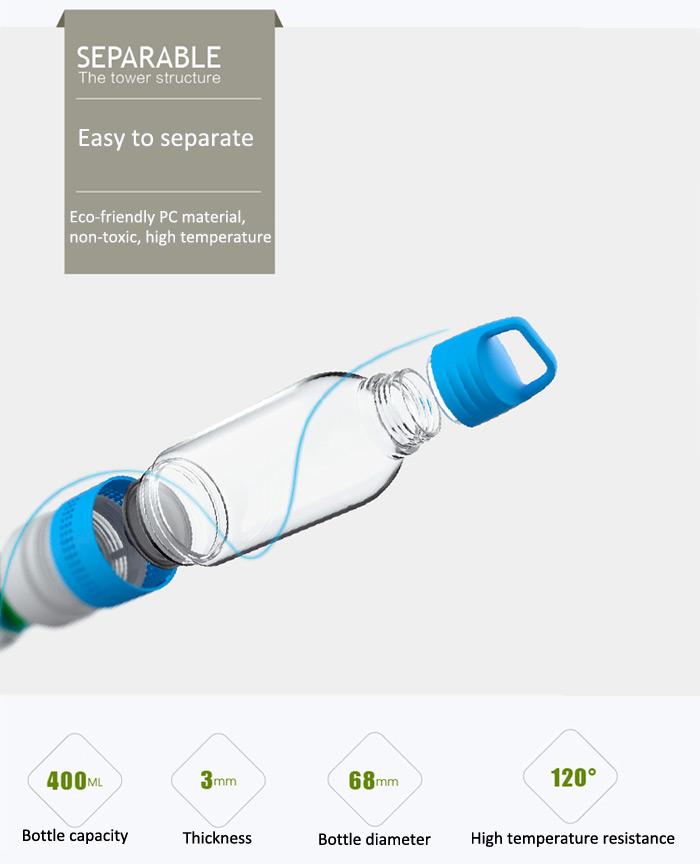 Seashell Sport4 2 in 1 Bottle Bluetooth 4.0 Speaker Support TF Card