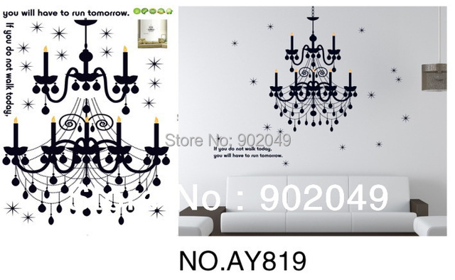 Hot Sale 60x90cm Mixed Ordered Elegant Candles Popular Wall Stickers House Decorations Removable Decor KW-AY819