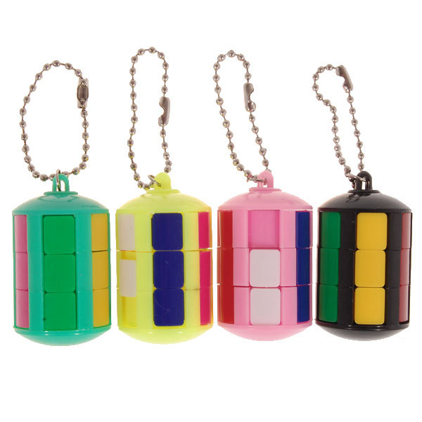 2015 Brand New Smart Tower Magic Cube Keychain (Assorted Color) Puzzle Educational Toy Special Toys(China (Mainland))