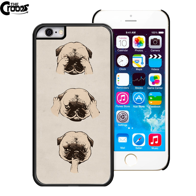 Case for iphone 6 6s Pug Dog Phone Cases Hard plastic cell phone Cover for iphone 6 6s pc 6splus 6plus 5.5' New Brand 24 style(China (Mainland))