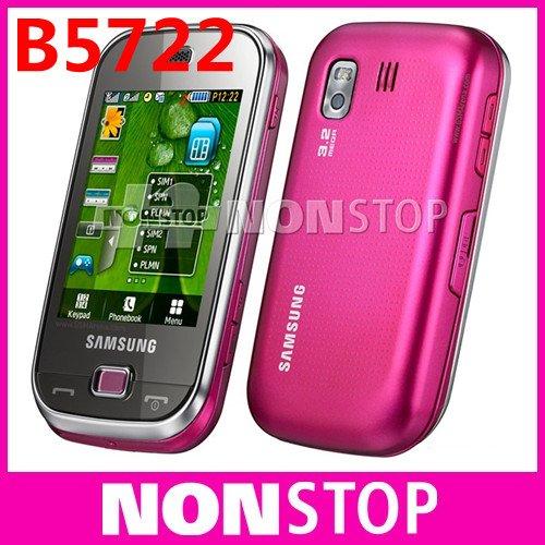 B5722 Original Samsung B5722 Dual SIM card Bluetooth 3.15MP JAVA Unlocked Cell Phone In Stock Refurbished(China (Mainland))
