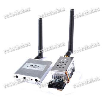 5.8G FPV 2W 8 Ch 2000mW Wireless Audio Video Transmitter AV Sender+ RC305 Receiver Kit