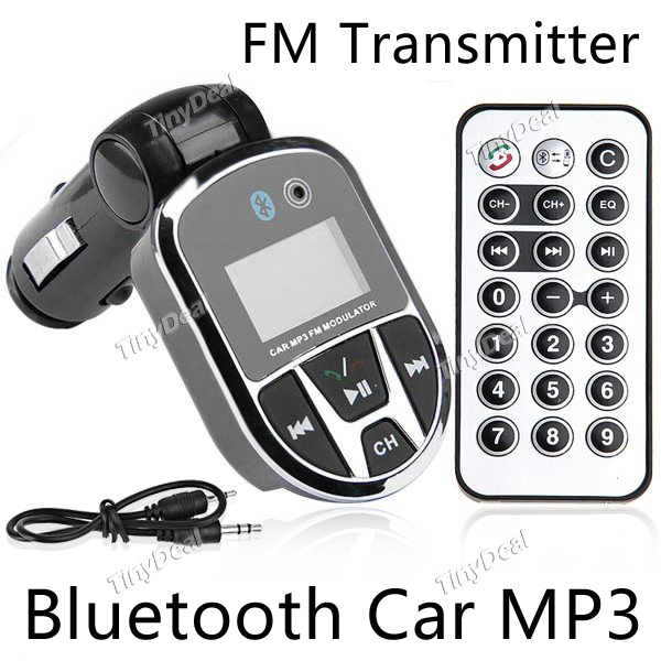 3 in 1 Bluetooth Wireless Car Fm Transmitter Radio Bluetooth Car Kit with USB Jack SD Slot Support Bluetooth Car Kit hands free(China (Mainland))