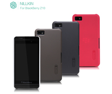 Case for BlackBerry Z10 NILLKIN Super Frosted Shield back cover with free screen protector and Retail package(China (Mainland))
