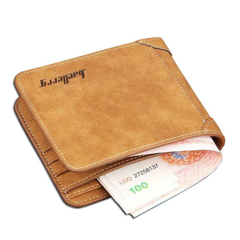 High Quality Soft Leather wallet men vintage style Baellery brand men wallets leather purse male credit card holder money bag(China (Mainland))