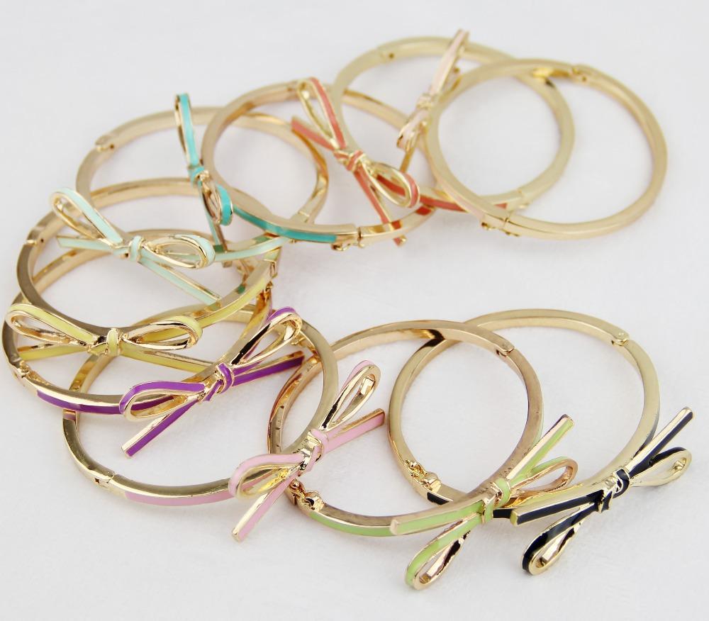 wholesale price mini bow bangle bracelets for in