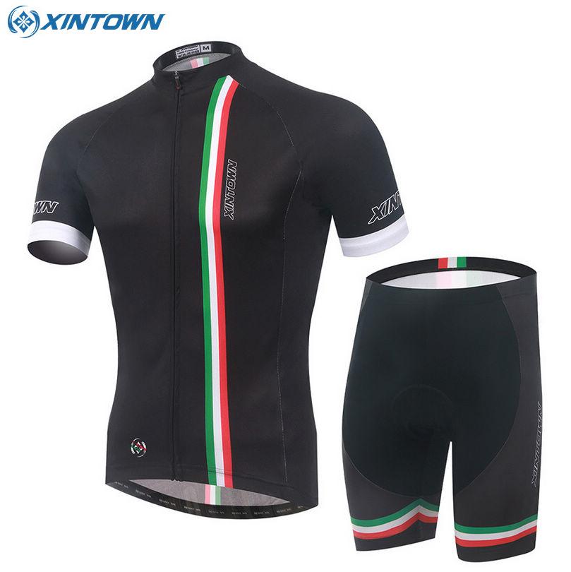 2016 XINTOWN Racing Bicycle Bike Cycling Clothing Wear Jersey Ropa Ciclismo Shirt Top Pad Shorts Sets Black <br><br>Aliexpress