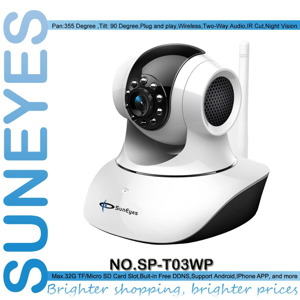 SunEyes SP-T03WP IP Network Camera Wifi Wireless with Micro SD Slot Support P2P Real Plug and Play(China (Mainland))