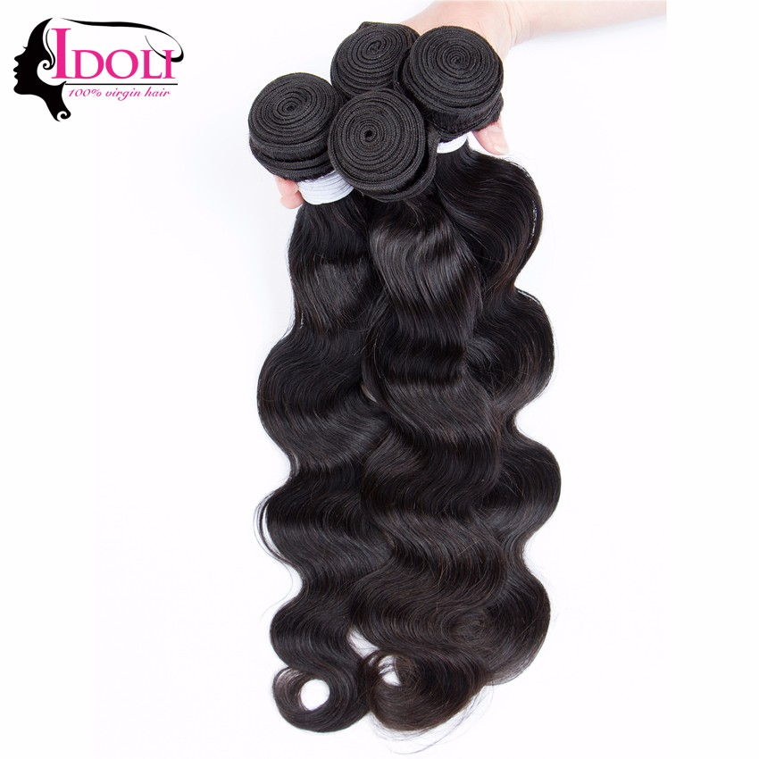 Idoli Hair Products With Closures 3Bundles With Closure Brazilian Body Wave Full Lace Closure Ear To Ear With Bundles Fast Deals