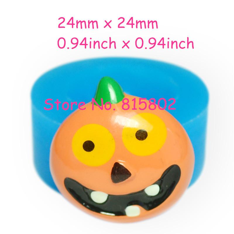 Free Shipping JYL138U 24mm Halloween Pumpkin Silicone Mold Hallowmas Mold - Fondant Craft Soap Fimo Clay Miniature Food Soap(China (Mainland))