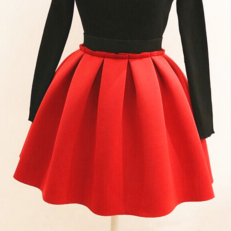 2016 new midi skirts womens space cotton high waist