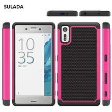 Buy Sony Xperia XZ F8331 TPU & PC Dual Armor Capa Stand Holder Hard Silicone Cover Sony Xperia XZ Dual F8332 Phone Case for $3.99 in AliExpress store