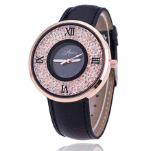 Relogio Feminino Fashion Women Dress Watches Luxury Transparent Diamond Watch Women Shiny Leather Watch Montre Femme