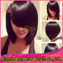 Best selling virgin full lace human hair wigs bob style glueless short bob brazilian human hair