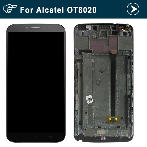 For Alcatel One Touch Hero OT8020 8020 8020D LCD Screen display and frame with Touch Screen Digitizer Assembly