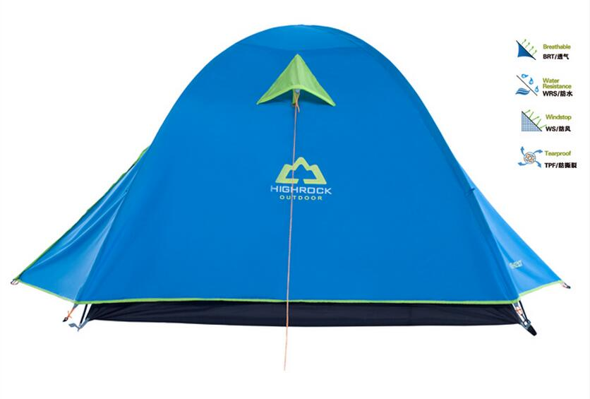 Фотография 3-4 bunk camping tent rain glass rod family camping outing  Double outdoor tent camping equipment packages Pole speed   ZP009