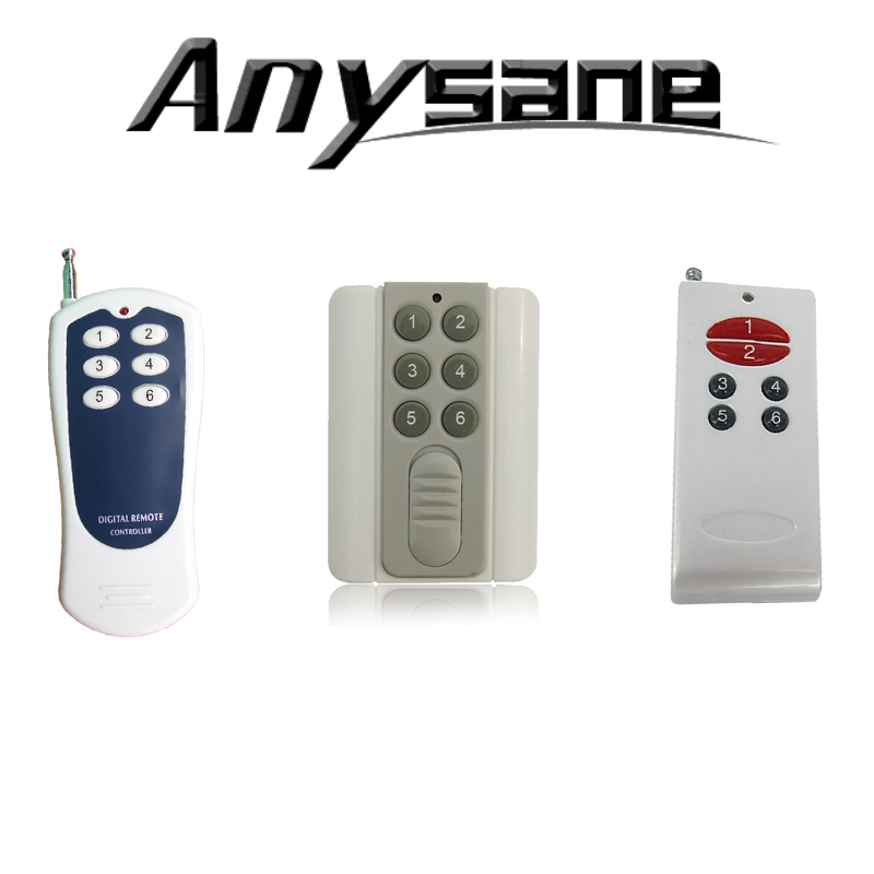 100 pcs/lot 6 CH RF learning code EV1527 remote control,Fixed code optional,433/315MHz,DHL Free shipping(China (Mainland))