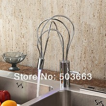 New Design Soild Brass Kitchen Sink Basin Chrome Single Handle Vessel Vanity Construction Real Estate MF-1086 Mixer Tap Faucet