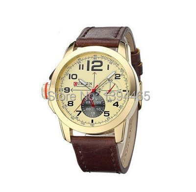 New 2015 Watch men top Brand CURREN men s Casual Sport watch Europe and America male