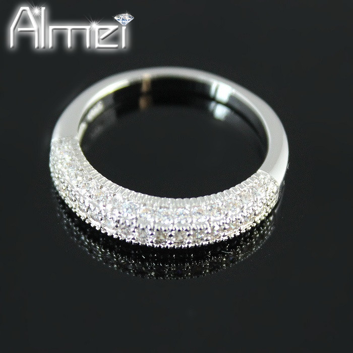 Wedding Zirconia CZ Diamond Cut Cute Rings Jewelry for Women Silver Plated Anel Feminino Bijoux Vintage Crystal Party Ring Y100(China (Mainland))