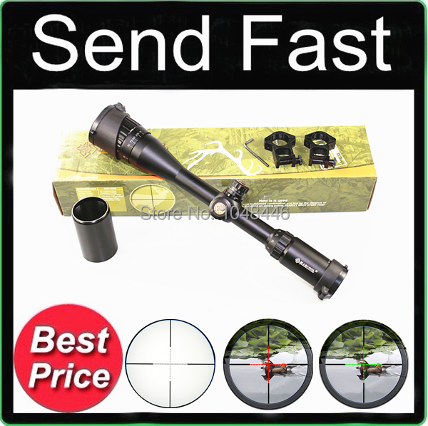 Фотография Marcool 4-16X40 AOME White Lettering R&G Illuminated Rifle Scope for Airsoft Sports and Outdoor Hunting +  free mounts 20mm
