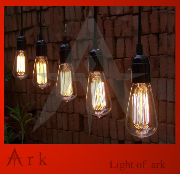 Hanging Bar Lights: Vintage Edison Line Hanging Bulb Pendant Lights For