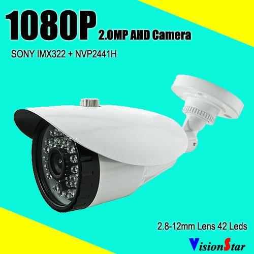 High performance built-in ir-cut module varifocal 2.8-12mm lens 42pcs ir leds sony imx322 bullet outdoor ahd analog camera(China (Mainland))