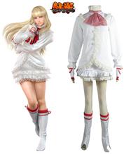 Tekken 6 Lili White Lolita Dress Game Cosplay Costume