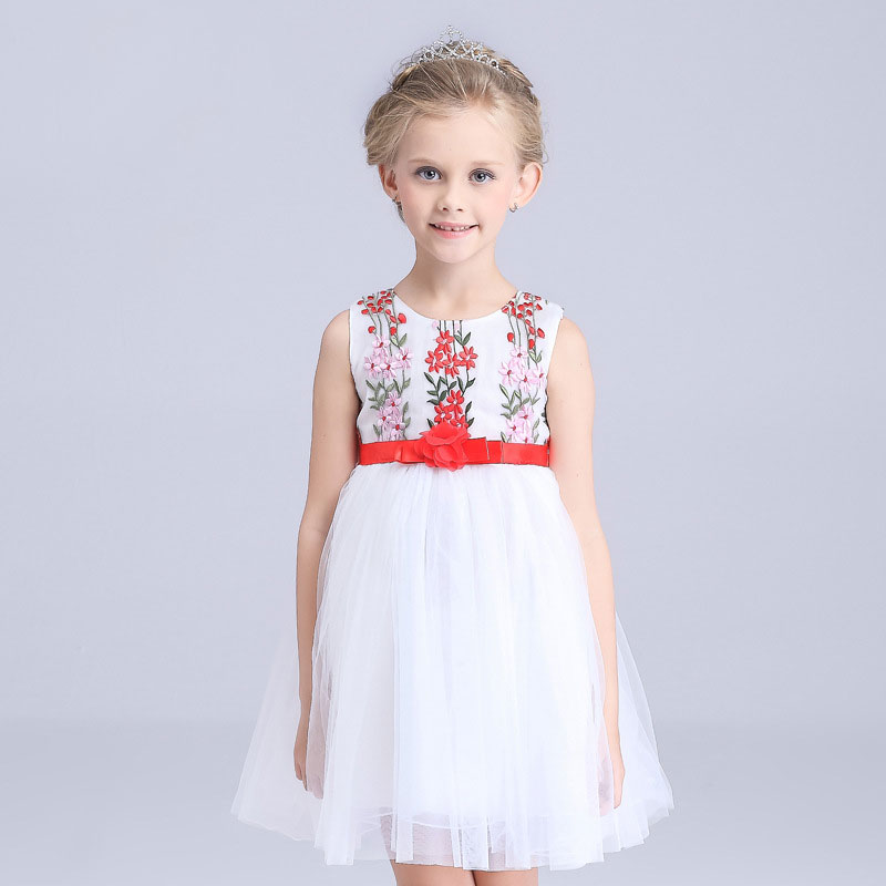 new fashion 2016 Summer Girls Party cute One-Piece Dresses Princess baby girl Children Clothes Kids Baby Clothing little Girl(China (Mainland))