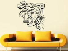 Sexy Girl Vinyl Wall Decal Hairdresser Salon Nail Barber Shop Hair Stylis Wall Sticker Hair Shop Salon Window Glass Decoration