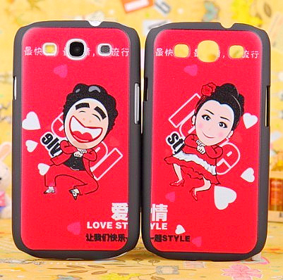 For samsung mobile phone case i9300 relievo lovers cartoon 9308 shell protective case