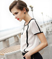 Fashion New Arrival Summer Cool Blouse Shirt Women Female Casual Shirt Short Sleeve Chiffon Blouse Femme