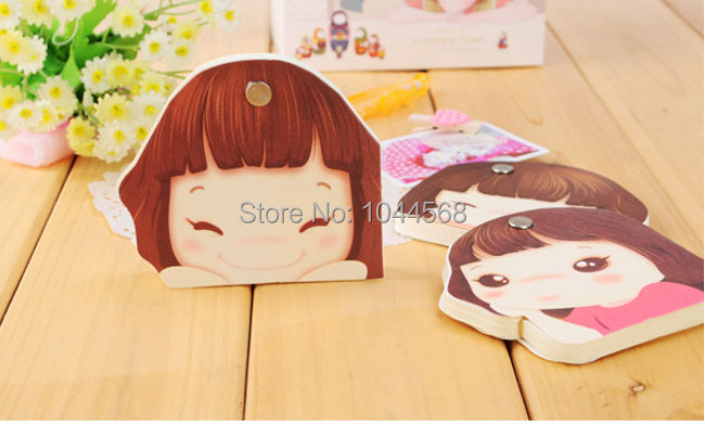 10PCS/lot Lovely small stationary Cute girl rotation post-it note pads Fancy gifts(China (Mainland))
