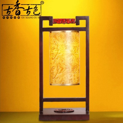 Antique wooden desk lamp classical Chinese style living room bedroom bedside lamp teahouse restaurant antique table lamp(China (Mainland))