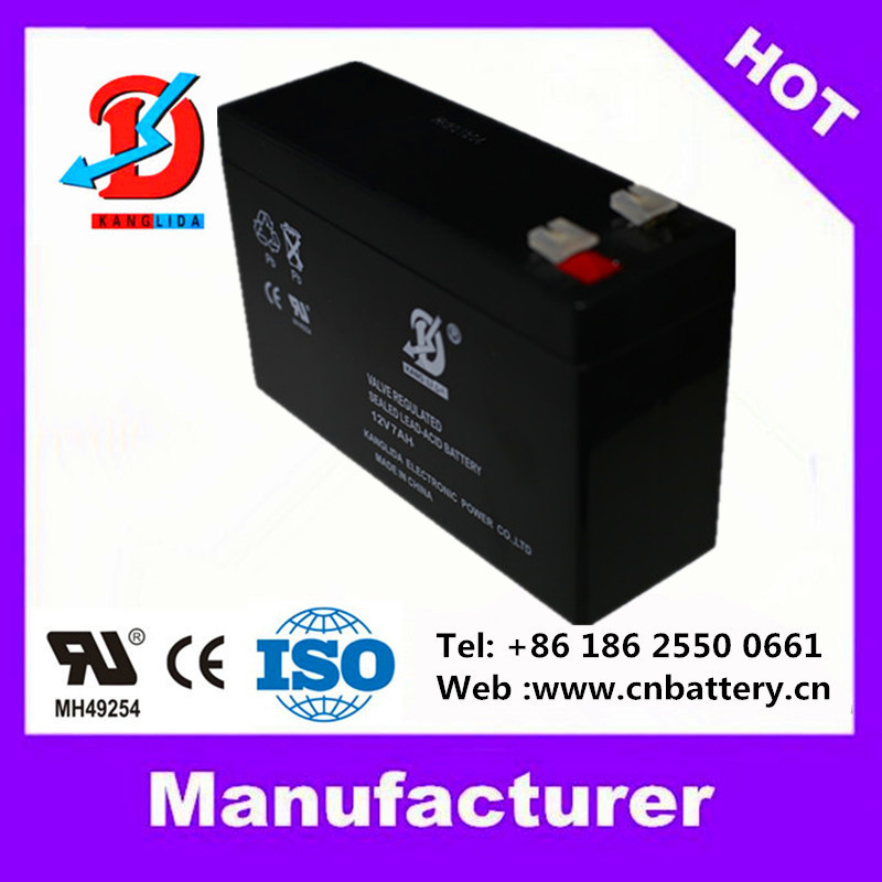 12v 7ah rechargeable deep cycle sealed lead acid battery for toy car(China (Mainland))