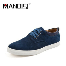 Men's shoes New 2016 Spring suede Leather shoes size(38-49)breathable big size Fashion Men casual shoes Men Flats Free shipping(China (Mainland))