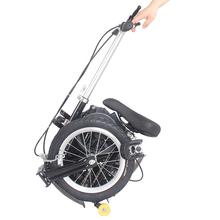"14"" Single Speed Folding Bicycle Bike Mini Foldable Bike - Black(China (Mainland))"