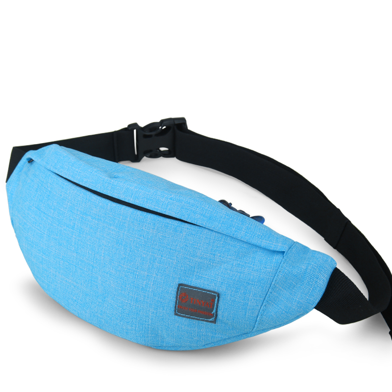 Couple Style Unisex Portable sports casual Waist Pack Functional Fanny Pack Outside Travel Running Bag Belt BagT201 Blue(China (Mainland))