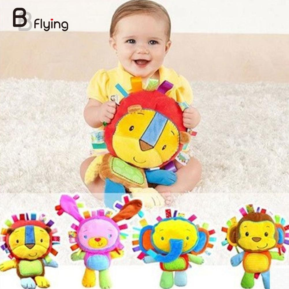 Baby Rattle Toy Ring Bell Newborn Infant Soft Stuffed Plush Animal Toy Doll Baby Toys(China (Mainland))